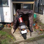 【バイクカバーにさようなら】 1万円以内で買えるサイクルドーム